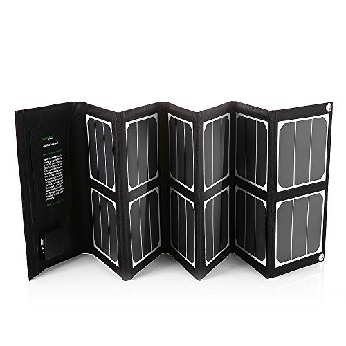New-Release-Poweradd-High-Efficient-40W-Foldable-Solar-Panel-Portable-Solar-Charger-USB-Port-18V-DC-Output-for-iPhones-iPads-Samsung-Galaxy-Phones-Acer-Asus-Dell-HP-Toshiba-Lenovo-Notebooks-Laptops-an-0