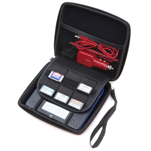 Nintendo-2DS-Accessory-Travel-Pack-Case-with-Car-Charger-and-USB-Charging-Cable-RED-ButterFox-0-0