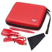 Nintendo-2DS-Accessory-Travel-Pack-Case-with-Car-Charger-and-USB-Charging-Cable-RED-ButterFox-0