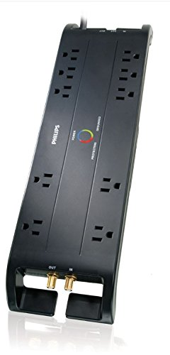 Philips-SPP5105C17-Home-Theater-Surge-Protector-with-10-Outlets-2500J-6-Foot-Cord-0