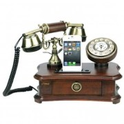 Pyle-Authentic-Classical-Themed-Home-Telephone-System-Integrated-Speaker-35mm-Audio-Input-J-0