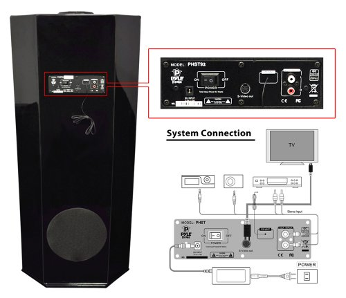 Pyle-Home-PHST94IPGL-600-Watt-21-Channel-Home-Theater-Tower-with-Docking-Station-for-iPodiPhoneiPad-Black-Glossy-Color-0-2