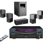 Pyle-Home-PT598AS-51-Channel-350-Watt-Home-Theater-Receiver-Surround-Sound-Package-with-SubwooferCenter-and-4-Satellite-Speakers-0