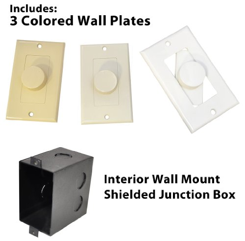 Pyle-Home-PVCKT5-Wall-Mount-Rotary-Volume-Control-Knob-3-Colors-Included-0-3