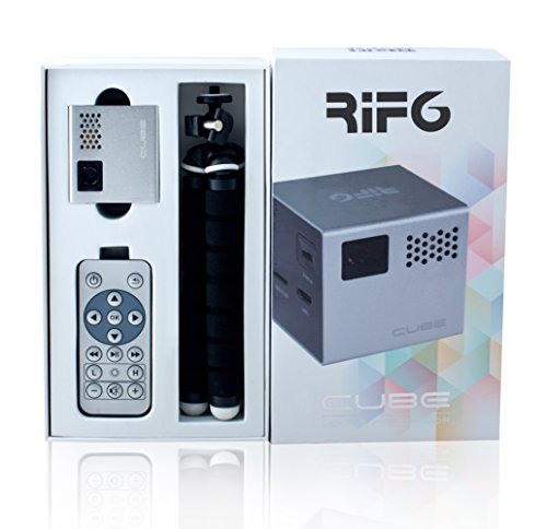 Rif6 cube 2 inch pico dlp high res mobile projector 120 for High resolution mini projector