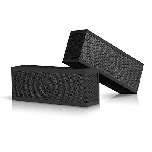 SoundBlock-Wireless-Bluetooth-Stereo-Speaker-for-Computers-Smartphones-Bluetooth-30-Technology-with-Built-in-Speakerphone-and-10-Hour-Rechargeable-Battery-Black-0-0