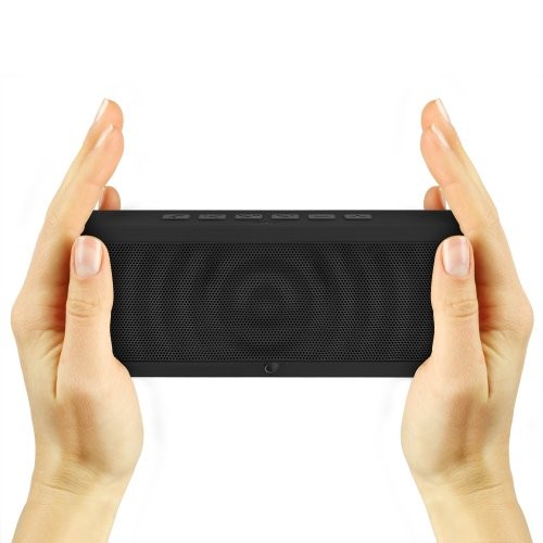 SoundBlock-Wireless-Bluetooth-Stereo-Speaker-for-Computers-Smartphones-Bluetooth-30-Technology-with-Built-in-Speakerphone-and-10-Hour-Rechargeable-Battery-Black-0-4
