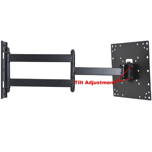 videosecu swing out arm tv wall mount for most 23 24 26 27 29 30 32 37 lcd led tv. Black Bedroom Furniture Sets. Home Design Ideas
