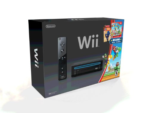 Wii-Black-Console-with-New-Super-Mario-Brothers-Wii-and-Music-CD-0-0