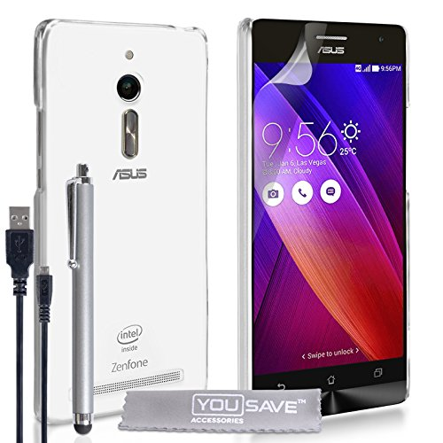 Yousave-Accessories-Asus-Zenfone-2-55-Inch-Version-Case-Super-Slim-Clear-Silicone-Gel-Cover-With-Stylus-Pen-And-Micro-USB-Cable-0