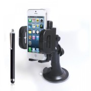 Yousave-Accessories-Sony-Xperia-P-Plastic-Car-Holder-With-Stylus-Pen-Black-0