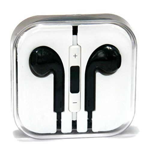 Iphone earphones silver black - iphone earphones with microphone apple