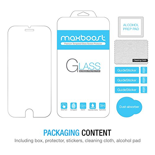 iPhone-6-Screen-Protector-Maxboost-iPhone-6-Glass-Screen-Protector-47-Tempered-Glass-Worlds-Thinnest-Ballistics-Glass-99-Touch-screen-Accurate-Round-Edge-02mm-Ultra-clear-Glass-Screen-Protector-Perfec-0-7