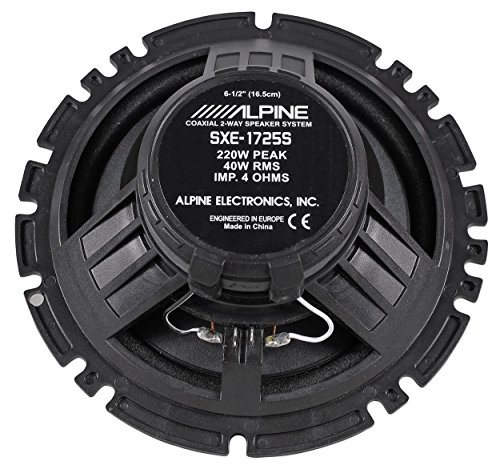 2-Pairs-Alpine-SXE-1725S-65-440-Watt-4-Ohm-2-Way-Coaxial-Car-Audio-Speakers-Featuring-A-Ferrite-Magnet-80-Watt-RMS-And-Mylar-Titanium-Balanced-Dome-Tweeter-0-1
