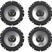 2-Pairs-Alpine-SXE-1725S-65-440-Watt-4-Ohm-2-Way-Coaxial-Car-Audio-Speakers-Featuring-A-Ferrite-Magnet-80-Watt-RMS-And-Mylar-Titanium-Balanced-Dome-Tweeter-0