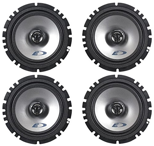 2-Pairs-Alpine-SXE-1725S-65-440-Watt-4-Ohm-2-Way-Coaxial-Car-Audio-Speakers-Featuring-A-Ferrite-Magnet-80-Watt-RMS-And-Mylar-Titanium-Balanced-Dome-Tweeter-0