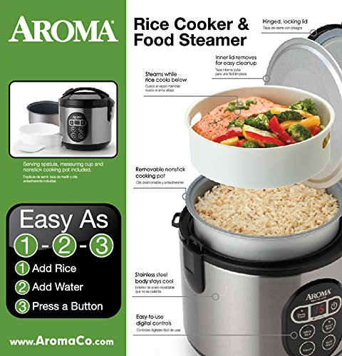 Aroma  Cup Digital Rice Cooker And Food Steamer Review