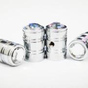 Bling-Anti-Theft-Locking-System-White-Diamond-Rhinestone-Metal-Chrome-Tire-Rim-Valve-Stem-Cap-VC-WHE-0-0