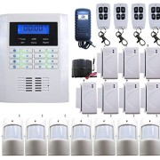 wolf guard new wireless wired gsm home security system lcd burglar fire alarm house auto dialer. Black Bedroom Furniture Sets. Home Design Ideas