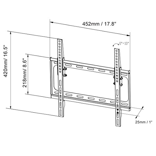 fleximounts t012 tilt tv wall mount for most 26 u0026quot