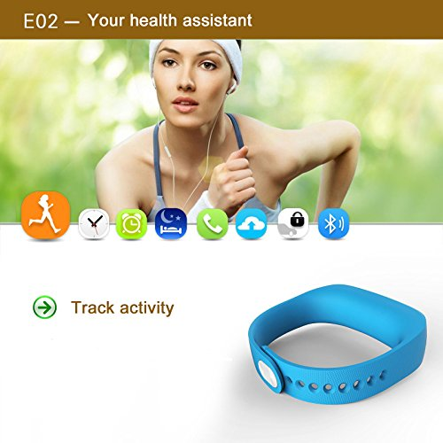 ForestfishTM-Bluetooth-Sync-Smart-Bracelet-Sports-Fitness-Tracker-Smart-Wristband-Water-Resistant-Tracker-Bracelet-Sleep-Monitoring-Anti-lost-Smart-Watch-Blue3-0-1