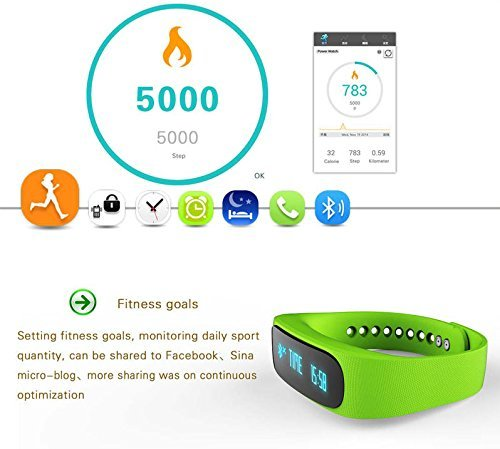 ForestfishTM-Bluetooth-Sync-Smart-Bracelet-Sports-Fitness-Tracker-Smart-Wristband-Water-Resistant-Tracker-Bracelet-Sleep-Monitoring-Anti-lost-Smart-Watch-Blue3-0-8