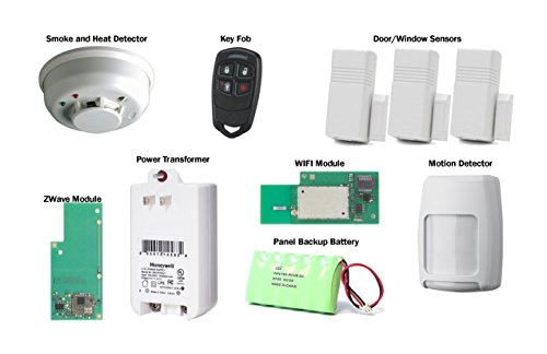 Honeywell Lynx Touch L7000 Wireless Home Automation, Fire and Security  Alarm Kit with Wifi and Zwave Module - Erics Electronics