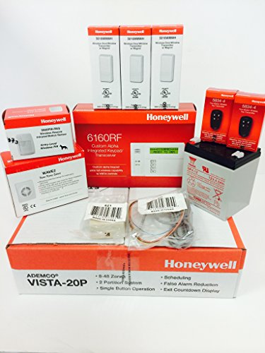 Honeywell Vista 20P and 6160RF Keypad Kit Package Home Security ...