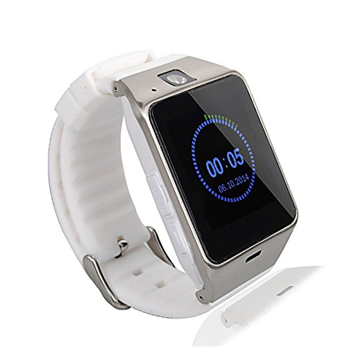 Kingear-A18-Smart-Bluetooth-30-NFC-Waterproof-Watch-Phone-Camera-Tf-Card-Wristwatch-for-IOS-Iphone-Android-Samsung-HTC-Etc-White-0