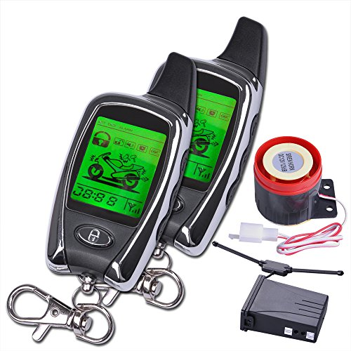lcd motorcycle bike alarm remote engine start anti