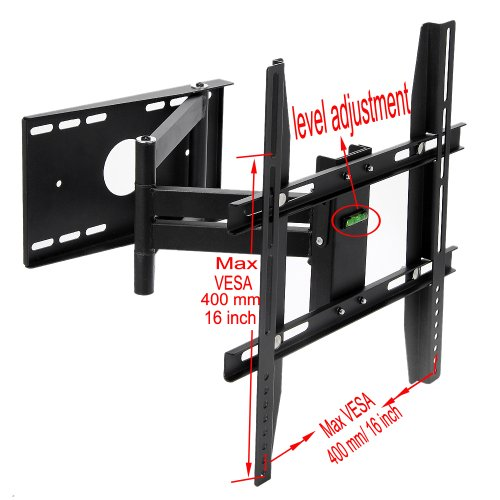 Lumsing-Universal-Corner-TV-Wall-Mount-Bracket-with-Full-Motion-Swing-OutExtendable-Tilting-Swivel-Articulating-Arm-for-14-40-LED-LCD-Plasma-TVs-and-flat-panel-displays-such-as-Dynex-Dell-Olevia-synta-0-0