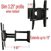 Lumsing-Universal-Corner-TV-Wall-Mount-Bracket-with-Full-Motion-Swing-OutExtendable-Tilting-Swivel-Articulating-Arm-for-14-40-LED-LCD-Plasma-TVs-and-flat-panel-displays-such-as-Dynex-Dell-Olevia-synta-0-1