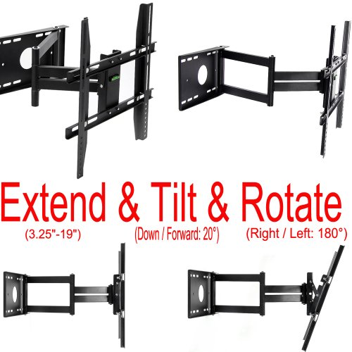 Lumsing-Universal-Corner-TV-Wall-Mount-Bracket-with-Full-Motion-Swing-OutExtendable-Tilting-Swivel-Articulating-Arm-for-14-40-LED-LCD-Plasma-TVs-and-flat-panel-displays-such-as-Dynex-Dell-Olevia-synta-0-2