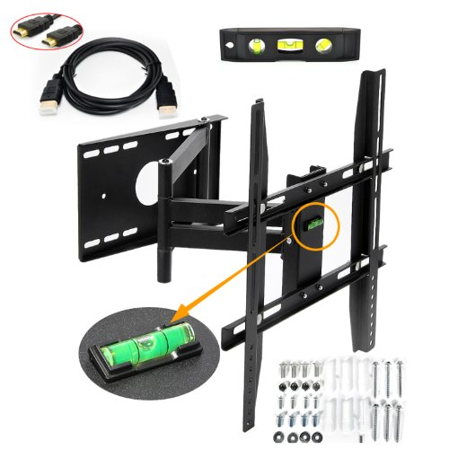 Lumsing-Universal-Corner-TV-Wall-Mount-Bracket-with-Full-Motion-Swing-OutExtendable-Tilting-Swivel-Articulating-Arm-for-14-40-LED-LCD-Plasma-TVs-and-flat-panel-displays-such-as-Dynex-Dell-Olevia-synta-0