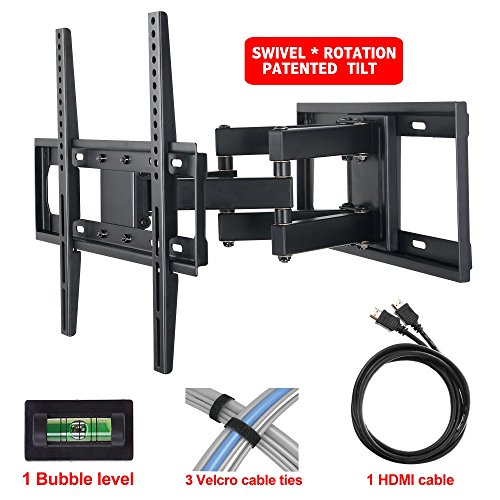 mounting dream md2380 tv wall mount bracket with full motion articulating arm 16 extension. Black Bedroom Furniture Sets. Home Design Ideas