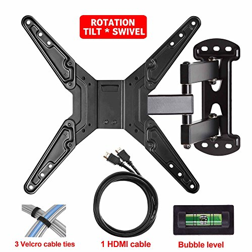 mounting dream md2413 mx tv wall mount bracket with full motion articulating arm 20 extension. Black Bedroom Furniture Sets. Home Design Ideas