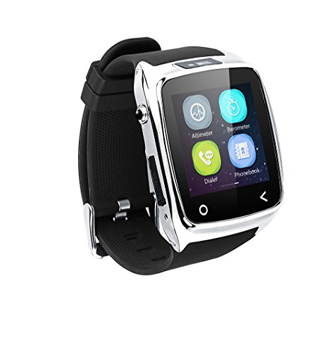Neelam-I8-Bluetooth-3040-Smart-Watch-WristWatch-Phone-Mate-with-Music-ControlsCamera-ControlsActivity-Tracker-for-Smartphone-AndroidIOS-Apple-iPhone-4s55c5s66plus-Silver-0-0