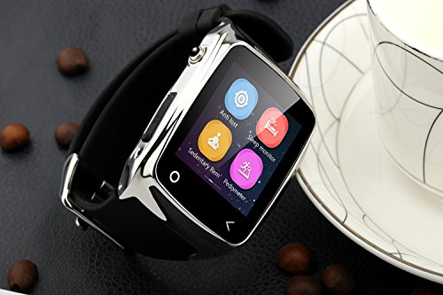 Neelam-I8-Bluetooth-3040-Smart-Watch-WristWatch-Phone-Mate-with-Music-ControlsCamera-ControlsActivity-Tracker-for-Smartphone-AndroidIOS-Apple-iPhone-4s55c5s66plus-Silver-0-6
