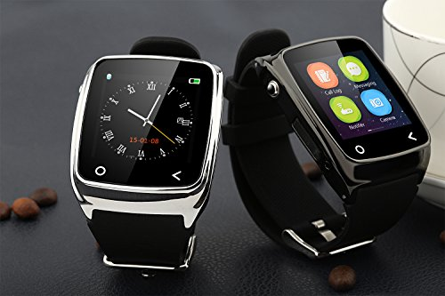 Neelam-I8-Bluetooth-3040-Smart-Watch-WristWatch-Phone-Mate-with-Music-ControlsCamera-ControlsActivity-Tracker-for-Smartphone-AndroidIOS-Apple-iPhone-4s55c5s66plus-Silver-0-7
