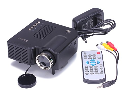 Rienar 60 portable mini hd led projector cinema theater for Pocket sized hd projector