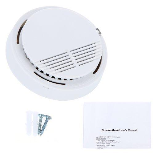 Sodial R Standalone Photoelectric Smoke Alarm Fire Smoke Detector Sensor Home Security System