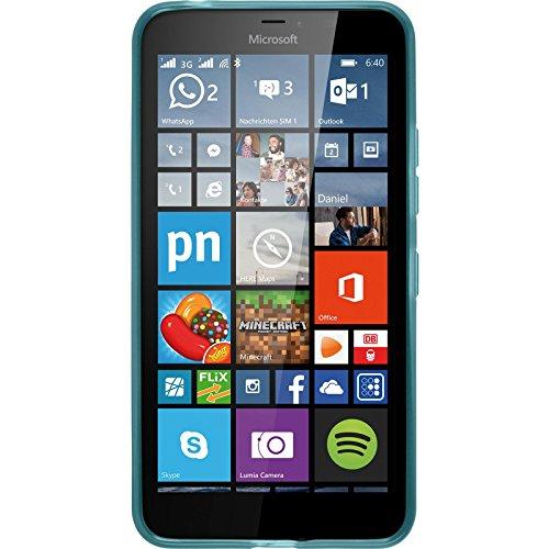 Silicone-Case-for-Microsoft-Lumia-640-XL-transparent-turquoise-Cover-PhoneNatic-0-0