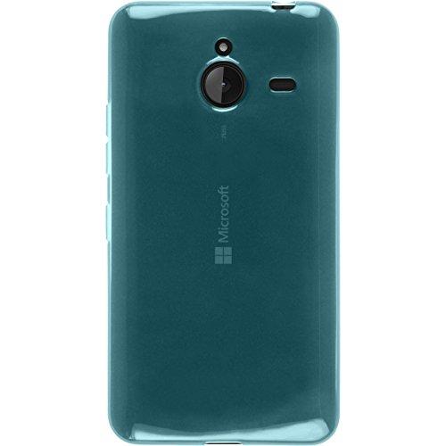 Silicone-Case-for-Microsoft-Lumia-640-XL-transparent-turquoise-Cover-PhoneNatic-0-1