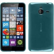 Silicone-Case-for-Microsoft-Lumia-640-XL-transparent-turquoise-Cover-PhoneNatic-0