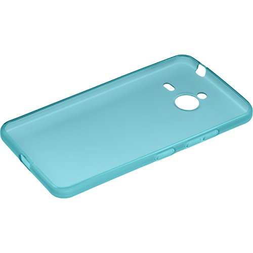 Silicone-Case-for-Microsoft-Lumia-640-XL-transparent-turquoise-Cover-PhoneNatic-0-2