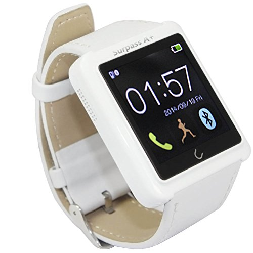 Surpass-A-Smart-Watches-Bluetooth-Watch-for-Iphone-4-4s-5-5s-5c-6-Plus-Samsung-Galaxy-S5-S4-S3-Note-3-2-Htc-One-M8-M7-Sony-Google-Lg-White-0