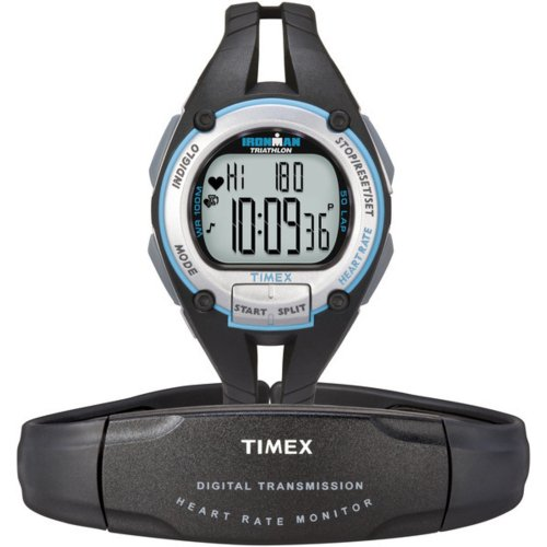 Timex-Ironman-Road-Trainer-Heart-Rate-Monitor-Watch-BlackSilverBlue-Mid-Size-0