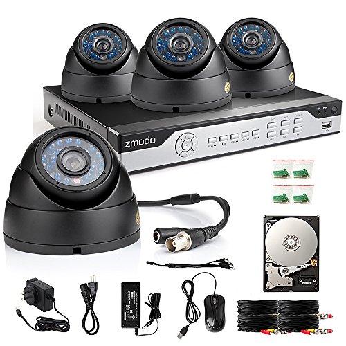 Zmodo 4ch 960h Dvr 4x600tvl Home Cctv Video Day Night Surveillance Security Camera System W