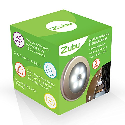 Zubu Battery Operated Motion Sensor Led Night Light 3