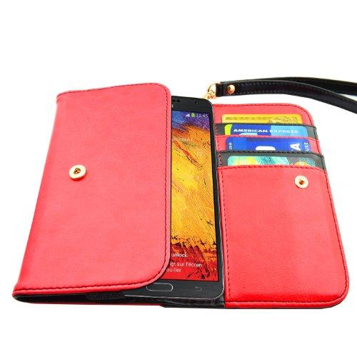 caseen ViVi Women s Smartphone Wallet Clutch Wristlet Case (Red ... 1237c5353d